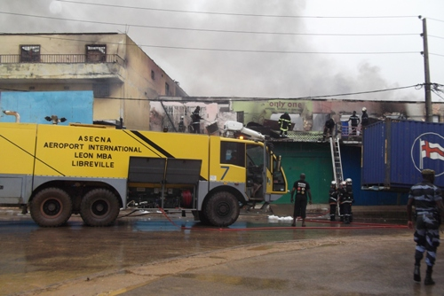Le marché Mont Bouët victime d'un violent incendie