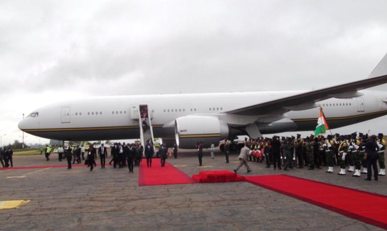 Arrivée d'Ali Bongo à Yamoussoukro