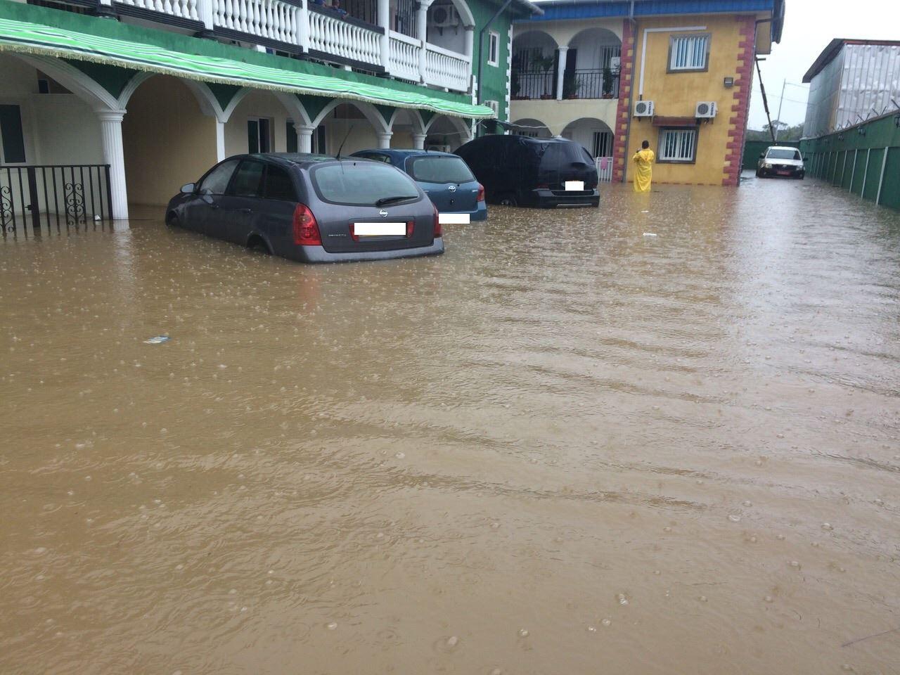 inondation à Akanda@Michel Ogandaga