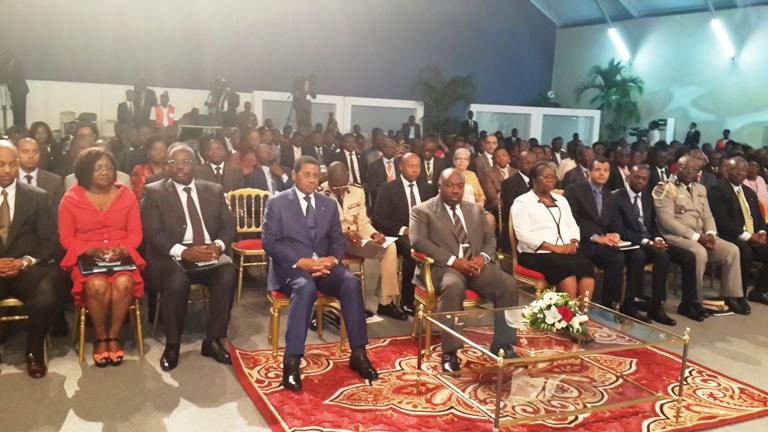 Ali Bongo Ondimba et les officiels présents à l'ouverture des travaux@gabonactu.com
