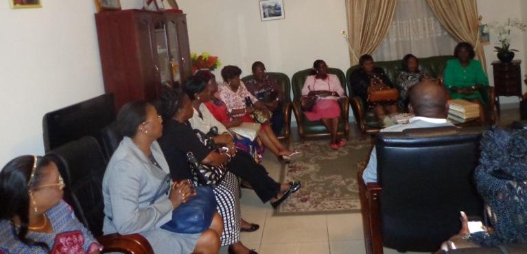 Vue de la délégation reçue par le maire@gabonactu.com