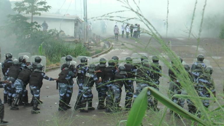 C'est de ce côté que les leaders du front ont tenté de pénétrer à Rio @ gabonactu.com