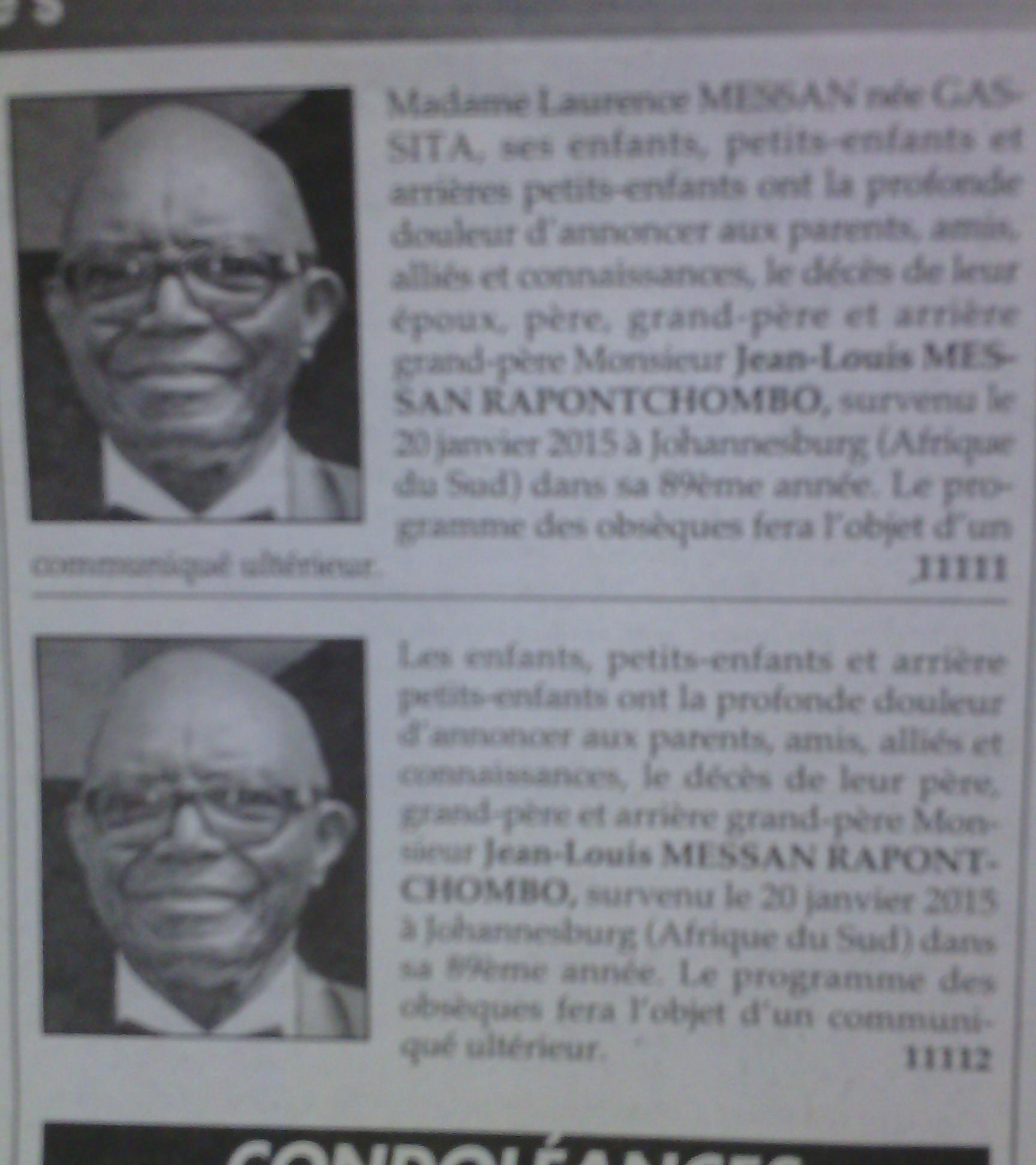 Décès de l'ancien médiateur de la République Jean Louis Messan