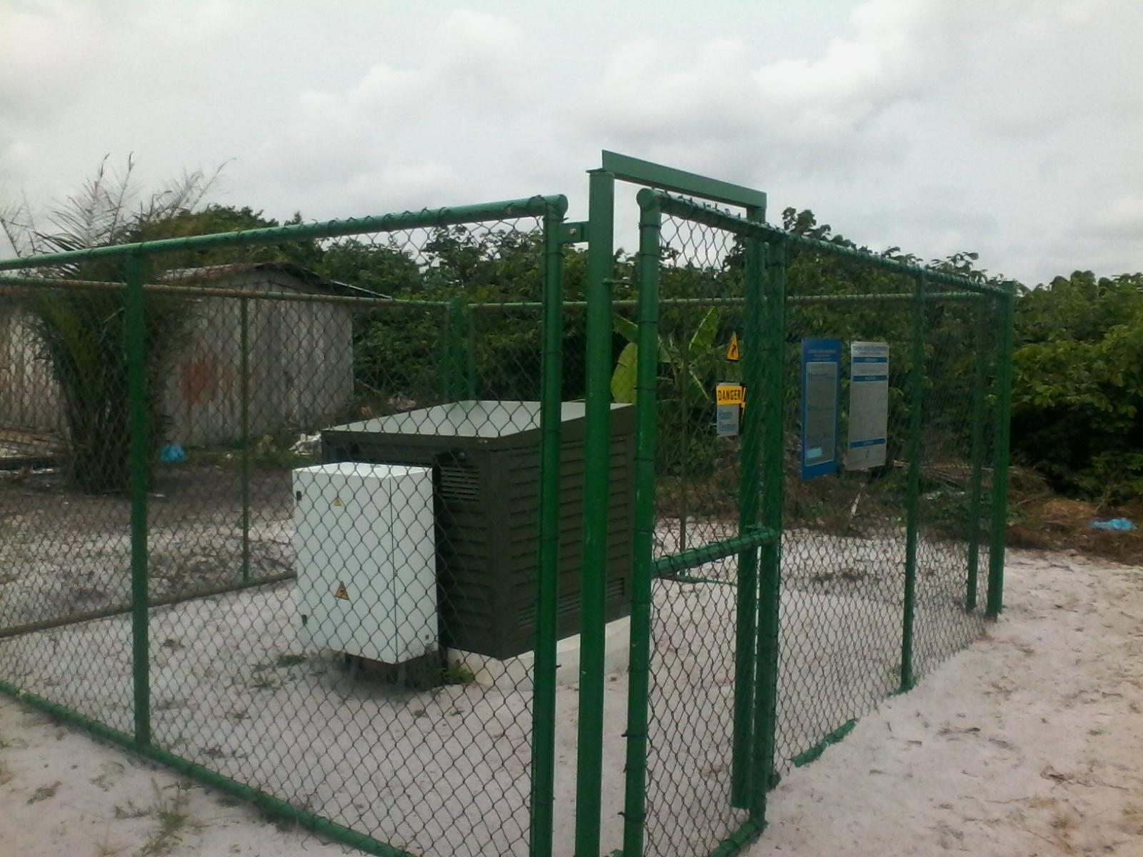 Vue d'un transformateur installé dans un village @ gabonactu.com / Vital Mbourou