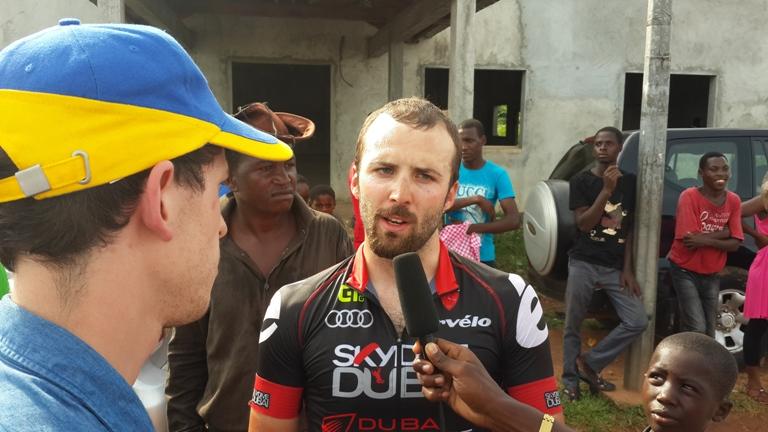 Andrea Platini exprime sa joie après la chaleur et les montagnes de Ndjolé @ gabonactu.com