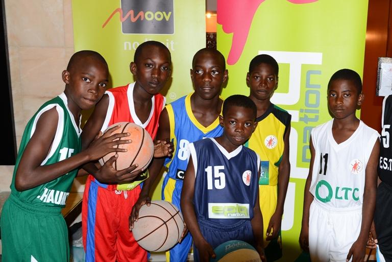 Un échantillon de jeunes qui participeront au mini championnat @ Moov Gabon