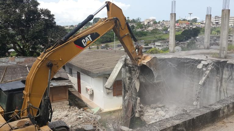 Les casses ont débuté entre le Pk5 et le Pk12 à Libreville