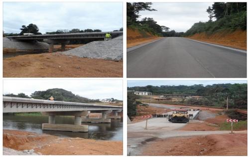 Ali Bongo testera sa voiture sur la route Lalara – Ovan (116km)
