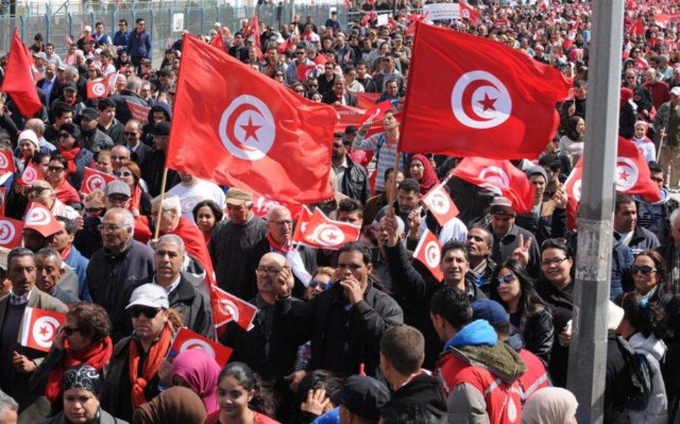 Ali Bongo a marché contre le terrorisme à Tunis
