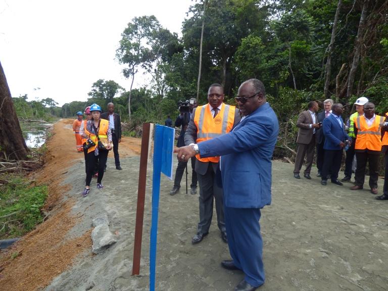 La route Port-Gentil / Omboué va changer le Gabon (Ali Bongo Ondimba)