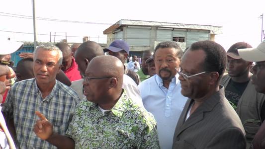 Jean de Dieu Moukagni Iwangou, Jean Ping et Philibert Andjembé, 1er leaders du Front à fouler Rio le 9 avril 2015 @ Gabonactu.com