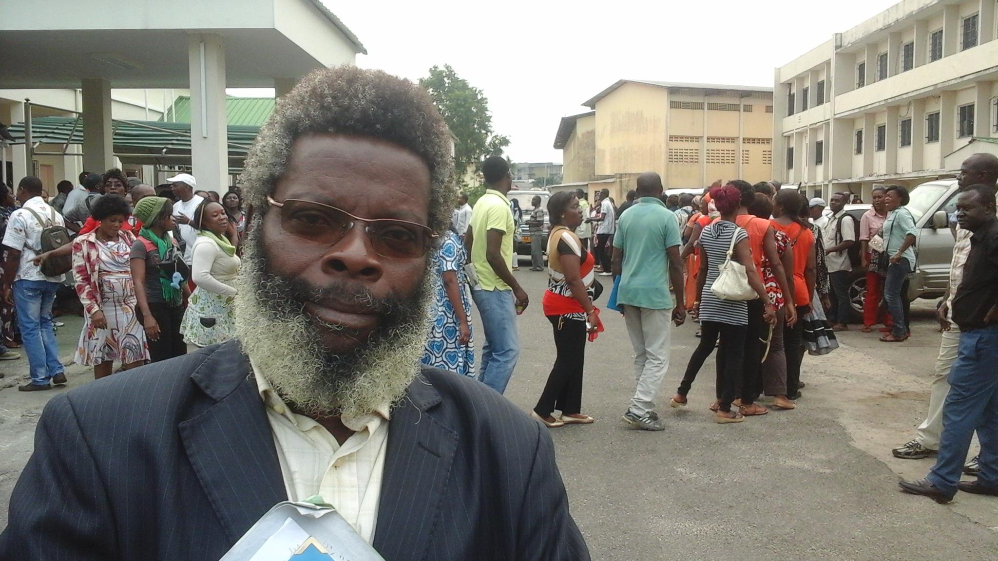 Simon Ndong Edzo un des leaders des  syndicats de l'éducation nationale