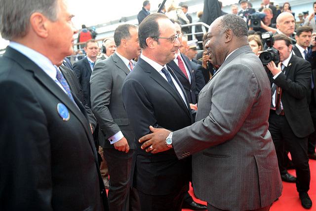 Ali Bongo et François Hollande @ DCP
