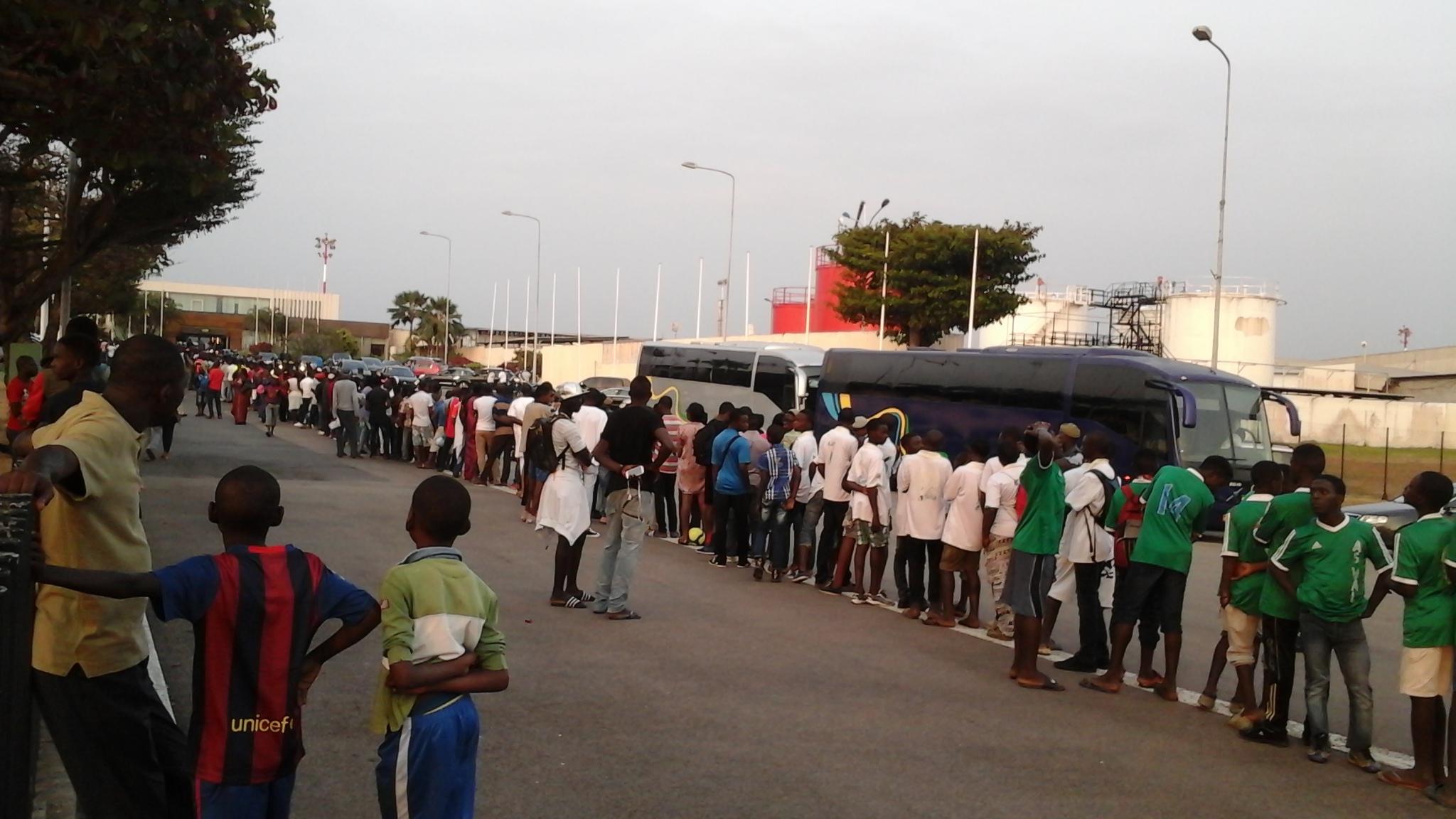 Arrivée à Libreville de Lionel Messi