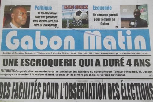 Gabon Matin revient en force pour concurrencer l'Union