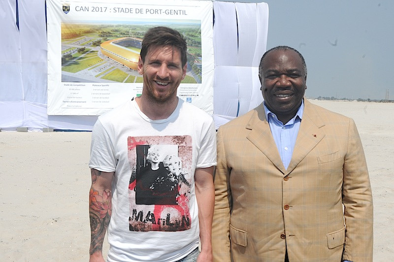 Ali Bongo et Lionel messi @ DCP
