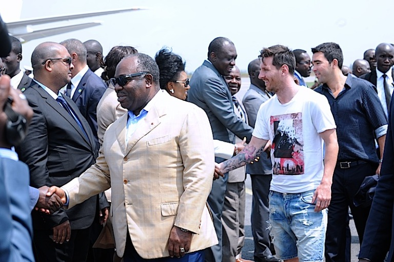 Petit pélérinage de Lionel Messi au Gabon (reportage en images)