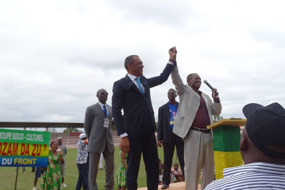 Le candidat de l'opposition Patrick Eyogo-Edzang présenté par le député sortant René Ndemezo'o Obiang @ Emmanuel Ebang Mvé
