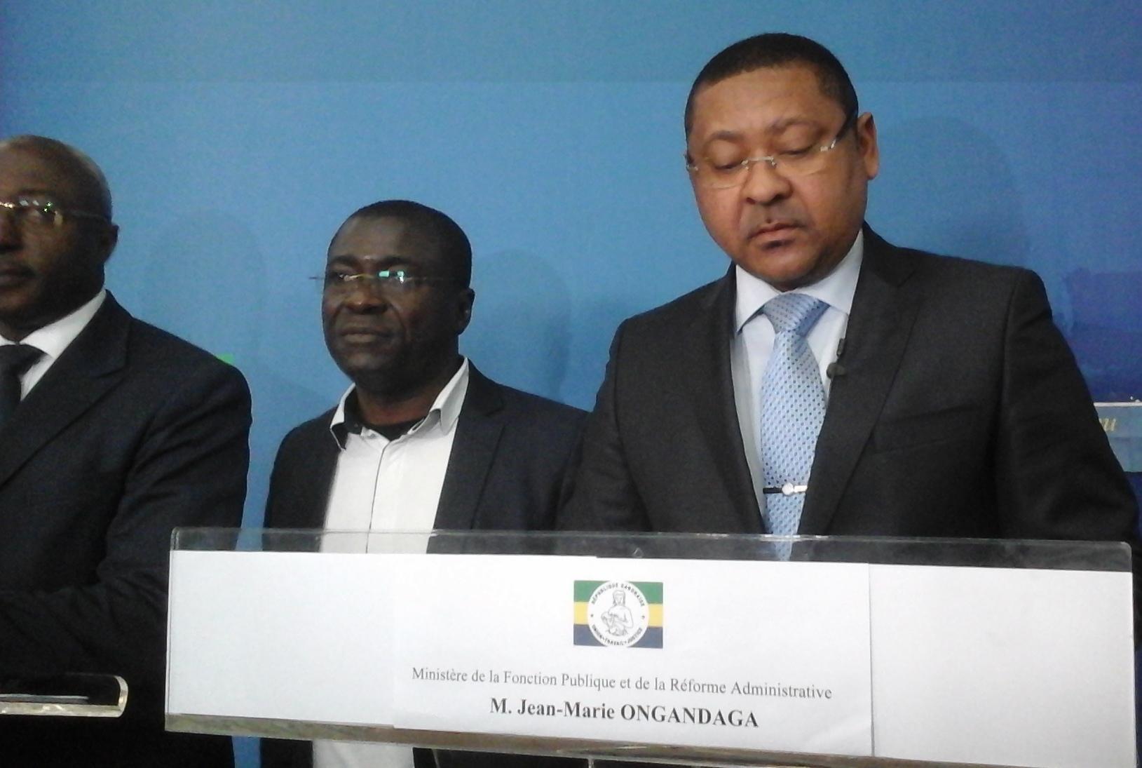 Jean Marie Ogandanga; le ministre de la Fonction publique a présenté cette reforme comme la meilleure chose qui soit arrivée aux fonctionnaires ces 20 dernières années @ Gabonactu.com
