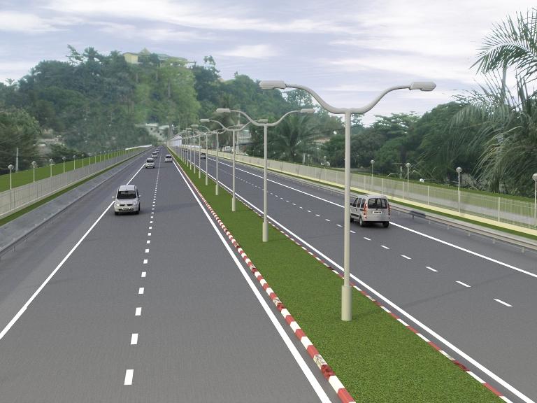 Une maquette de la future route de PK5 au PK12 @ ANGT