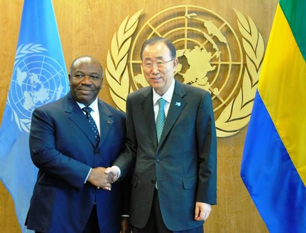 Ali Bongo et Ban Kimoon évoquent la nouvelle crise centrafricaine