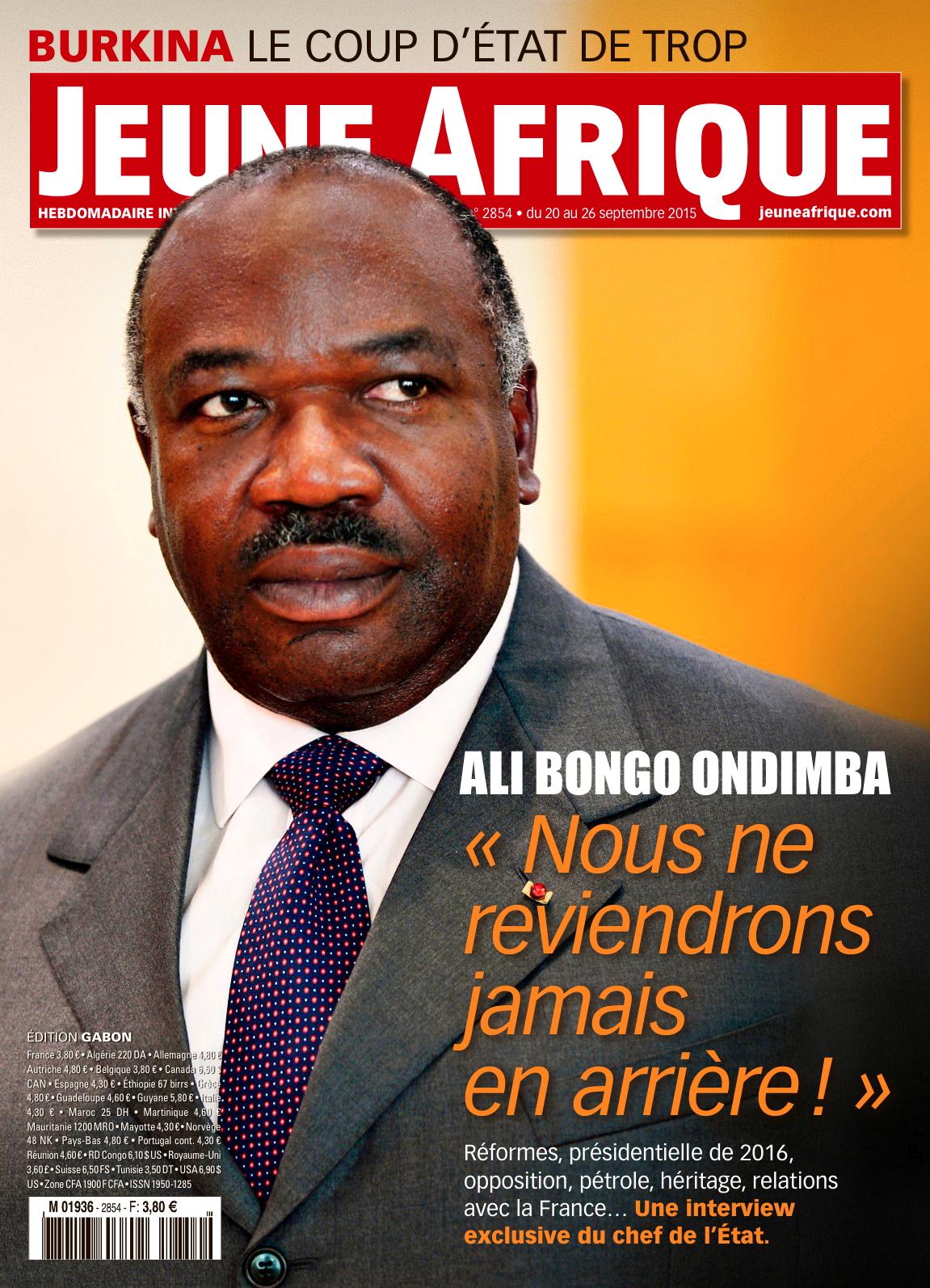 Ali Bongo chicotte ses opposants dans une interview à Jeune Afrique