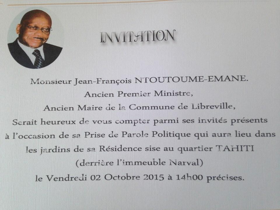 Que dira Jean François Ntoutoume Emane ce vendredi ?