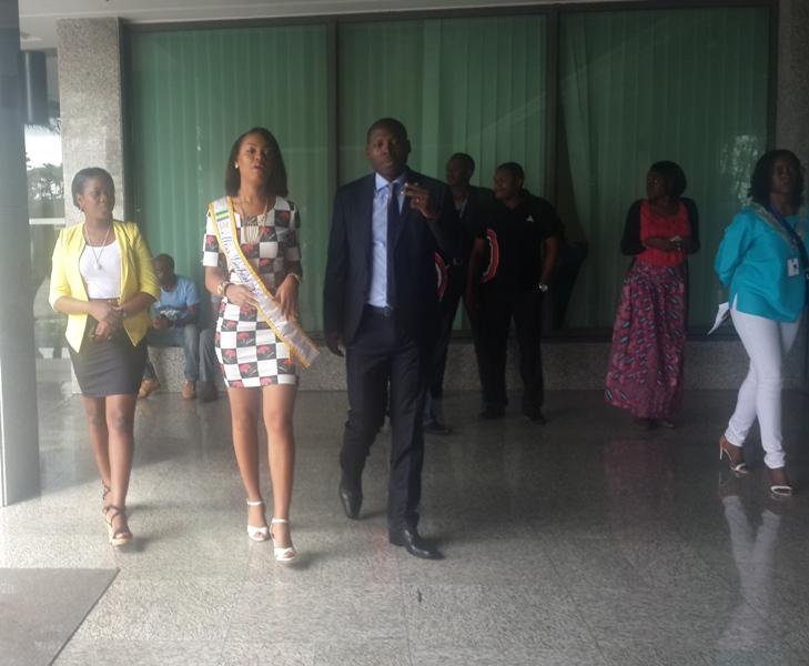 Miss Gabon 2015 dit merci à son sponsor Airtel
