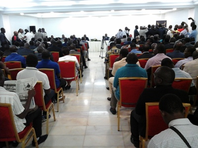 Une vue de la salle durant la déclaration @ Gabonactu.com
