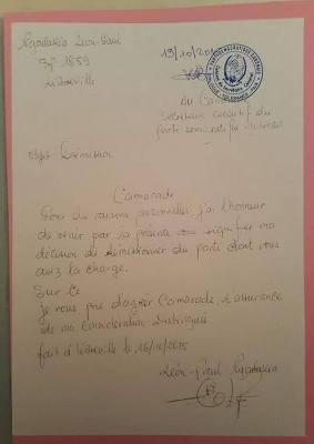 La présumée lettre de démission @ Facebook.com
