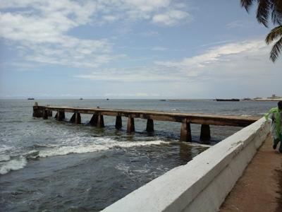 Le débarcadère où avait accosté le navire transportant CheiKh Amadou Bamba en 1895 @ Gabonactu.com