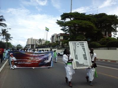 Passage devant le palais présidentiel @ Gabonactu.com