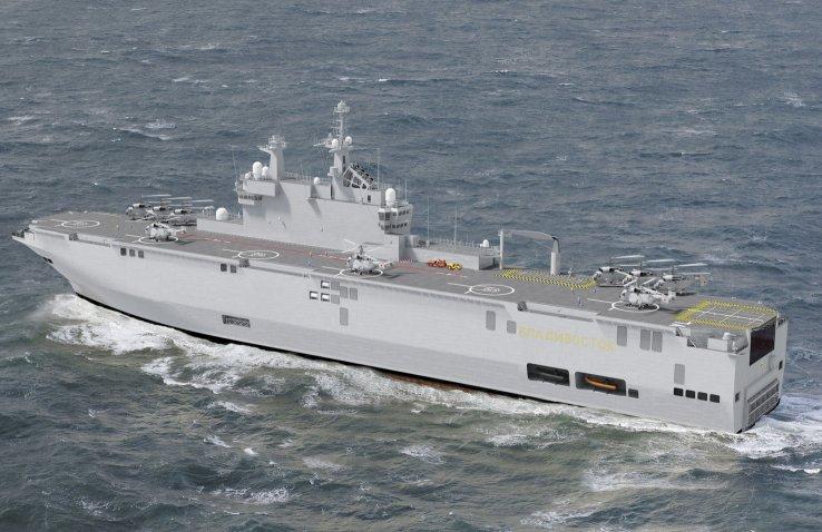 Le bâtiment de guerre, le Mistral mouille à Libreville après Port-Gentil