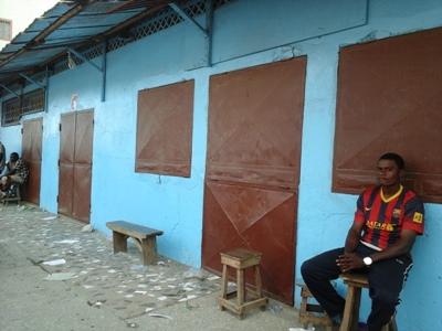 Par peur, certains commerçants ont fermé leurs boutiques @ Gabonactu.com