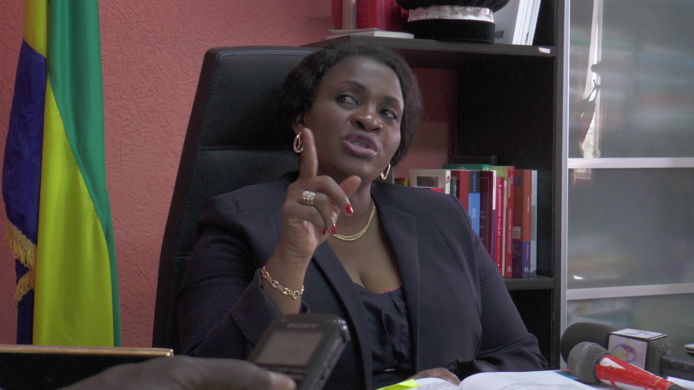 Sidonie Flore Ouwé prête à fouetter les grands criminels du Gabon