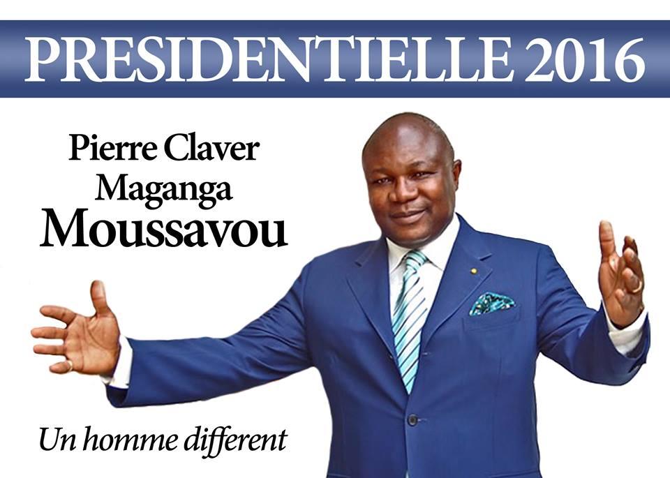 Pierre Claver Maganga Moussavou candidat à l'élection présidentielle 2016