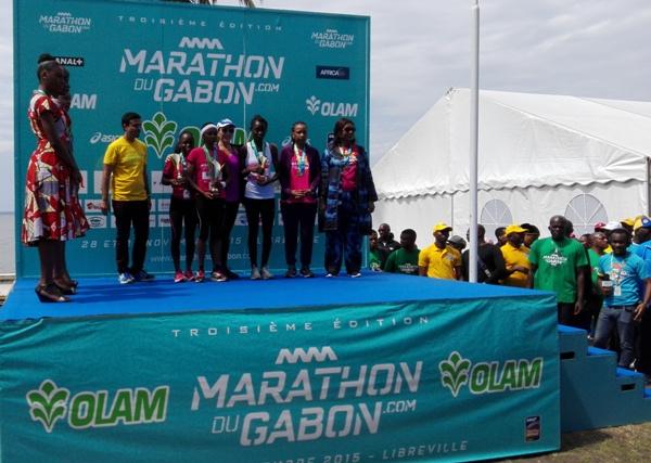 Audrey Nynze remporte le marathon du Gabon pour la 3ème fois