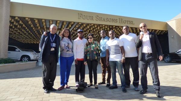 Sellek le merveilleux guide de Casa, Josiane, Thiery, Fati, Loïck, Rodolphe, Willy et Hussein le parfait chauffeur qui a fait le succès de notre aventure @ Gabonactu.com