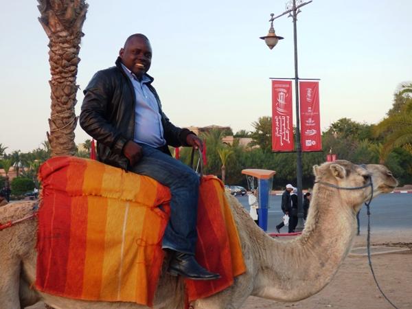 petite balade en chameau dans le Marrakech moderne @ Gabonactu.com