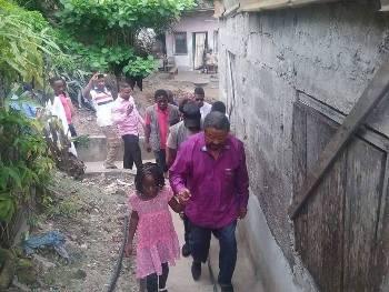 Dans un bas quartier de Libreville