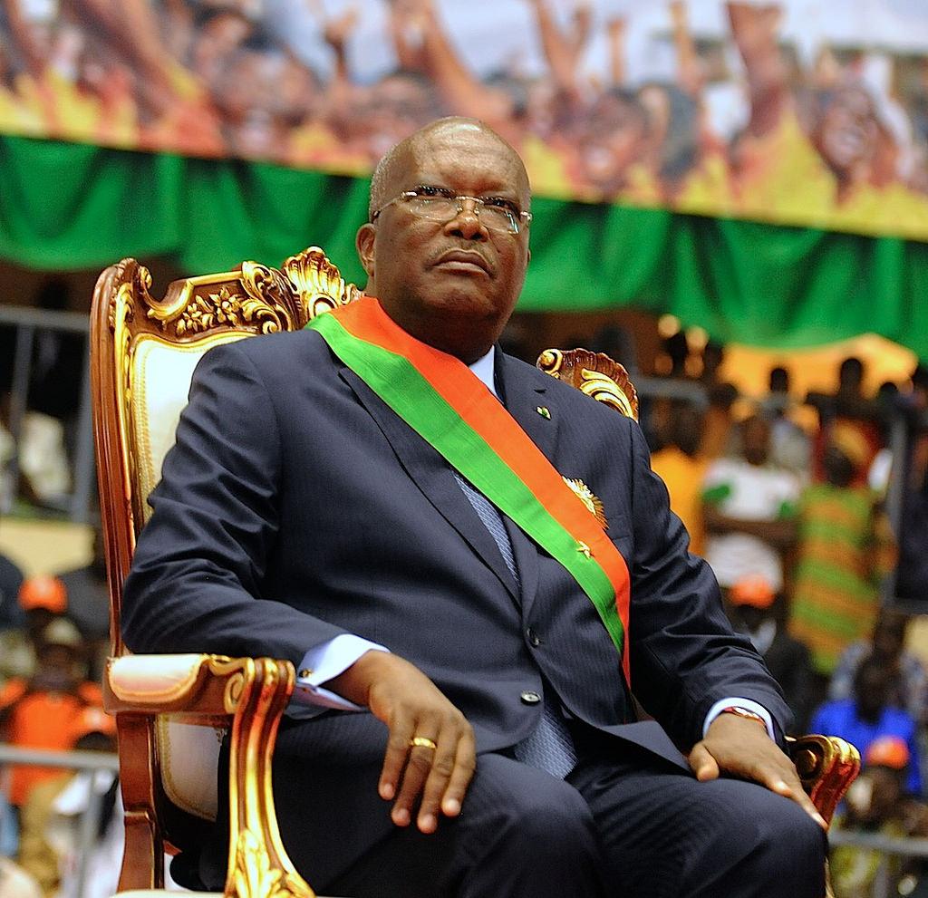 Ali Bongo a bien assisté à la prestation de serment du nouveau président du Faso