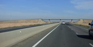 La route Marrakech - Rabat. 2X2 voies  @ Gabonactu.com