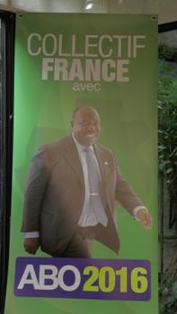 Un des supports de campagne créés par les membres du collectif @ Lazare Moukoubidi