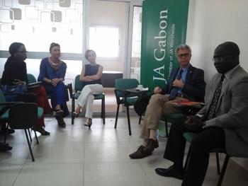 Les organisateurs présentant le concours @ Gabonactu.com