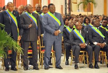 Les députés et Sénateurs gabonais lors de la cérémonie @ DCP
