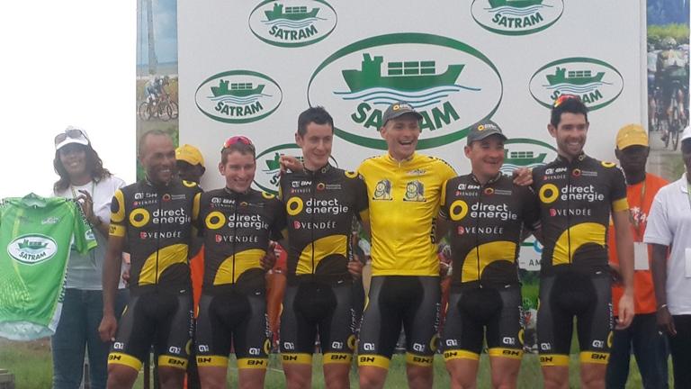 L'équipe professionnelle française Direct Énergie a aussi décroché le maillot du classement par  équipe @ Gabonactu.com