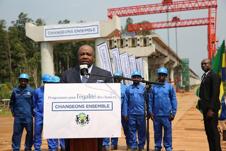 Ali Bongo candidat à l'élection présidentielle pour changer le Gabon