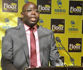 Le DG de Moov Gabon invitant les clients à se mettre au rythme de Mobile money @ DR