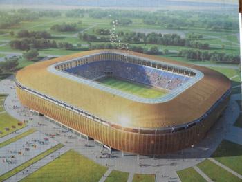Une vue de la maquette du futur stade @ Gabonactu.com