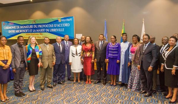 Microsoft et le Gabon signent une convention pour faire de Libreville un pôle d'excellence